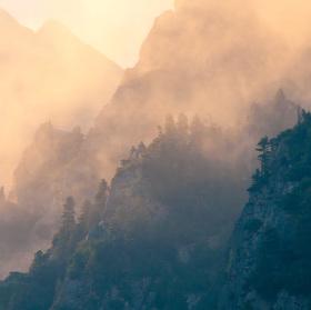 Vysoké Tatry (L'adový štít) při západu slunce