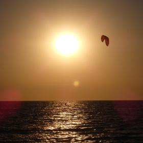 večerní kait surfing