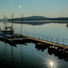 Ráno od jezera Máchy