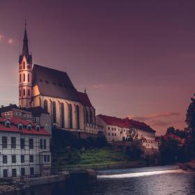 kostel svatého Víta v Českém Krumlově