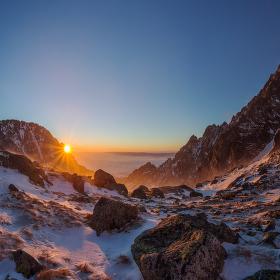 Východ slunce ve Vysokých Tatrách