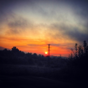 ranní cesta do práce