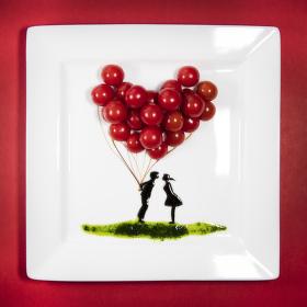 Valentýnský salátek