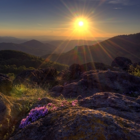 západ slunce z Holého vrchu