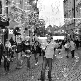 V bublinách...
