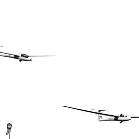 čierne na bielom: majstri vzdušných prúdov