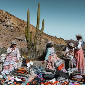 Obchod v peruánských kopcích