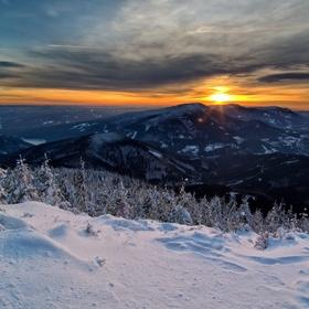Západ z Lysé hory