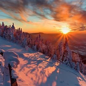 Západ slunce na Lysé