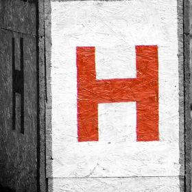 Big red H