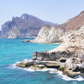 Mughsail Beach v Ománu