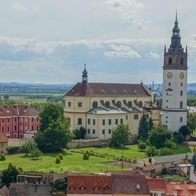 Katedrála sv. Štěpána v Litoměřicích s biskupskou rezidencí