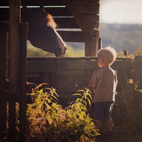 Chlapec s koňem
