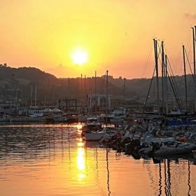 San Benedetto del Tronto - Soumrak v přístavu