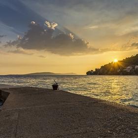 U mola kdesi v Chorvatsku