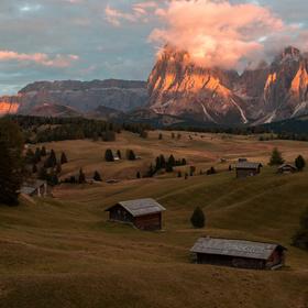 večer na Alpe di Siusi