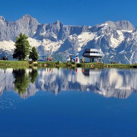 U jezera na Rejterlalm v Rakousku