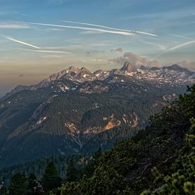Ranní výhled na Dachstein