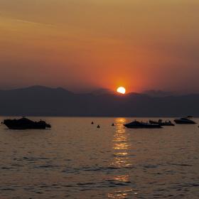 Lago di Garda - letní západ slunce