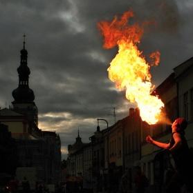 Oheň v Polné