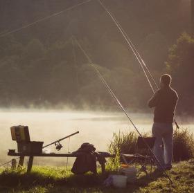 Nedělní ráno u rybníka