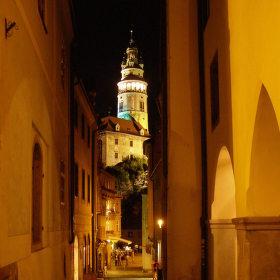 Český Krumlov v noci