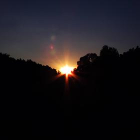 Západ slunce u Libčic.