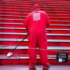 time square v červenom
