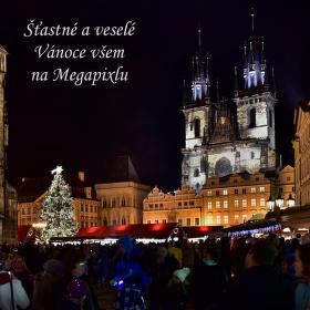 Vánoční atmosféra na Staroměstském náměstí