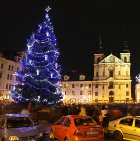Vánoční výzdoba v Jihlavě