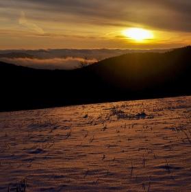 Krušnohorský východ slunce