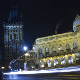 Night cold lights in Prague