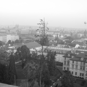 Balon nad Prahou
