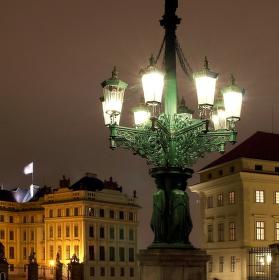 Plynový kandelábr na Hradčanském náměstí