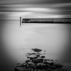 Blythe port rocks, Northumberland, UK