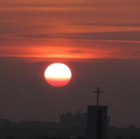 Západ slunce na Jižním městě