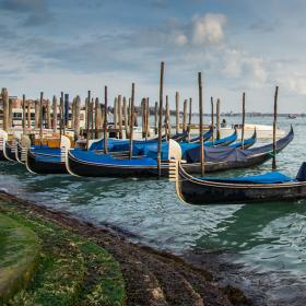Gondoly v italských Benátkách