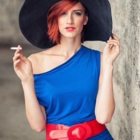 Červená a modrá...Klára