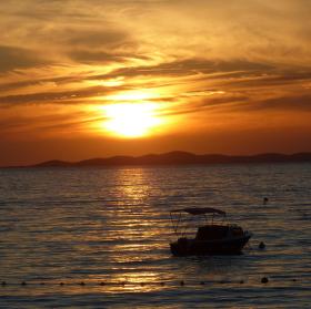 Západ slunce nad Jadranem