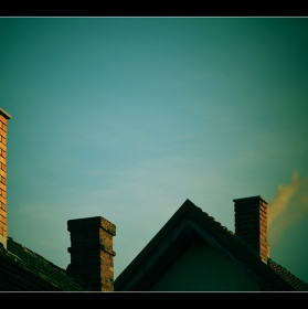 Podvečerní střechy