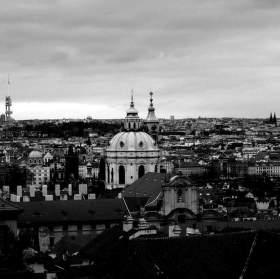 Černobílá Praha