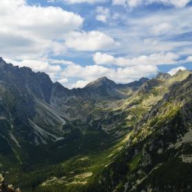 Pohled na Polské Tatry