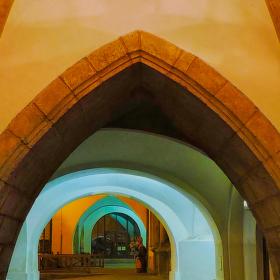 gotické podloubí v kadani
