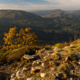 Podzimní pohled z Klíče na Lužické hory...