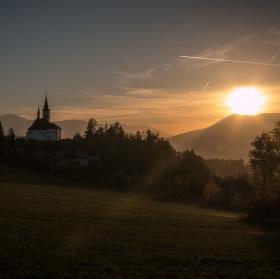 Západ slunce v Malenovicích....