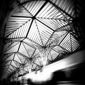 Ocelové palmy - zastřešení nádraží v Lisabonu