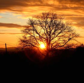 Dnešní nápad, jak vyfotit západ :-)