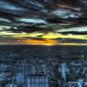 Západ v Bangkoku