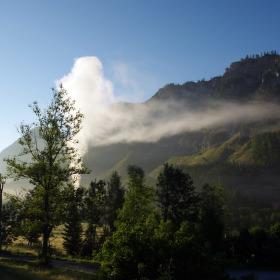Ráno v podhůří Alp