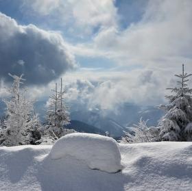 Zima na Lysé hoře